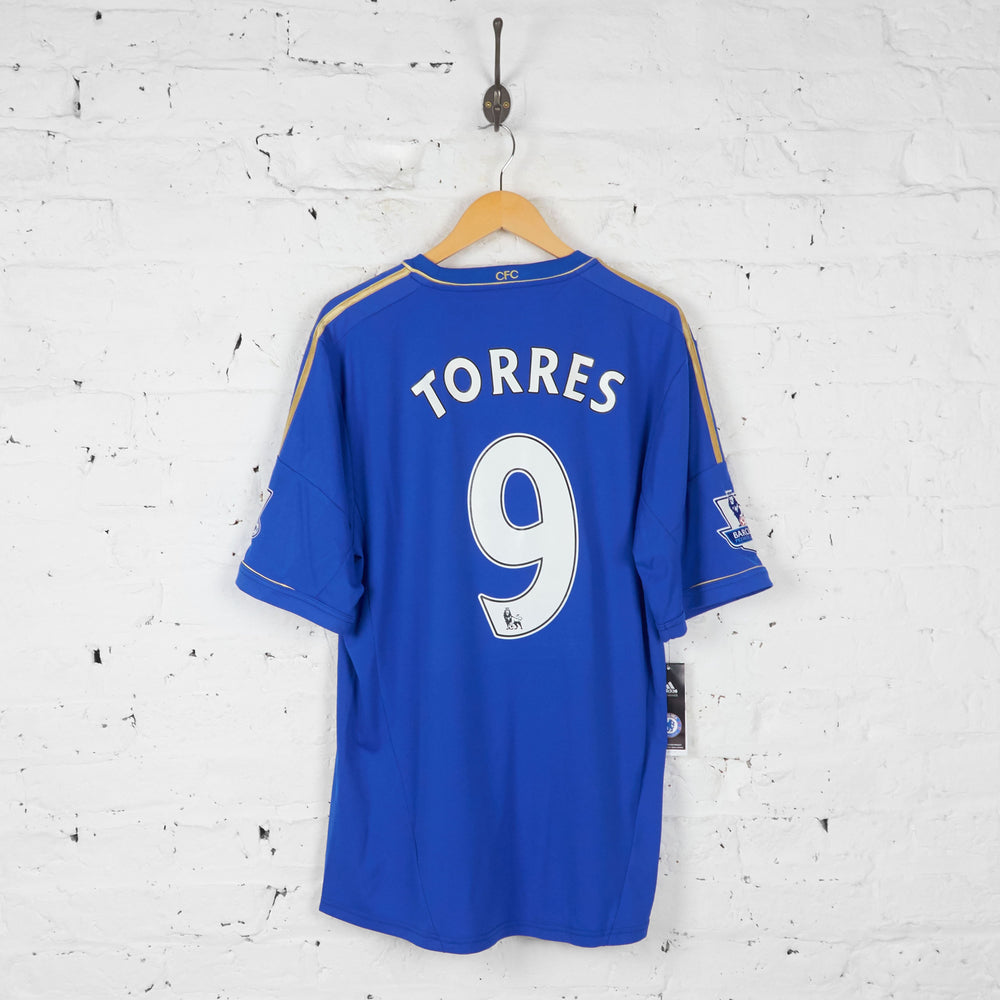 Chelsea 2012 Signed Torres Home Football Shirt - Blue - XL - Headlock