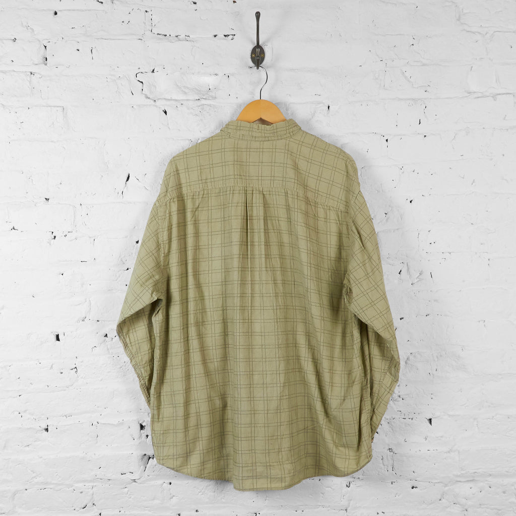 Corduroy Check Shirt - Beige - XL - Headlock
