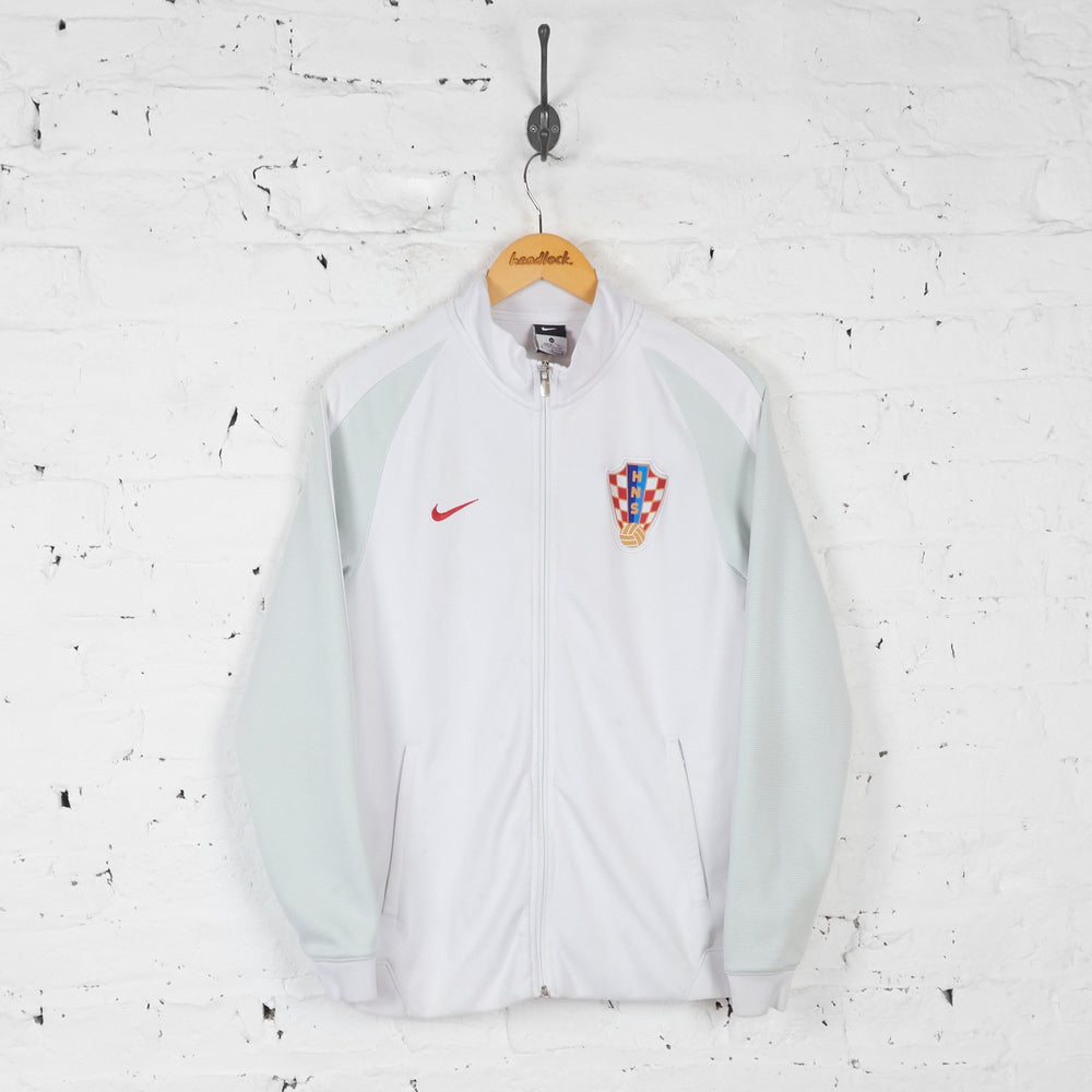 Croatia Football Nike Tracksuit Top Jacket - White - M - Headlock