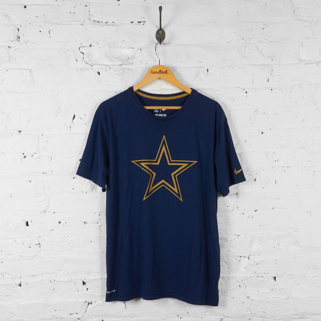 Dallas Cowboys NFL American Football T Shirt - Blue - XL - Headlock