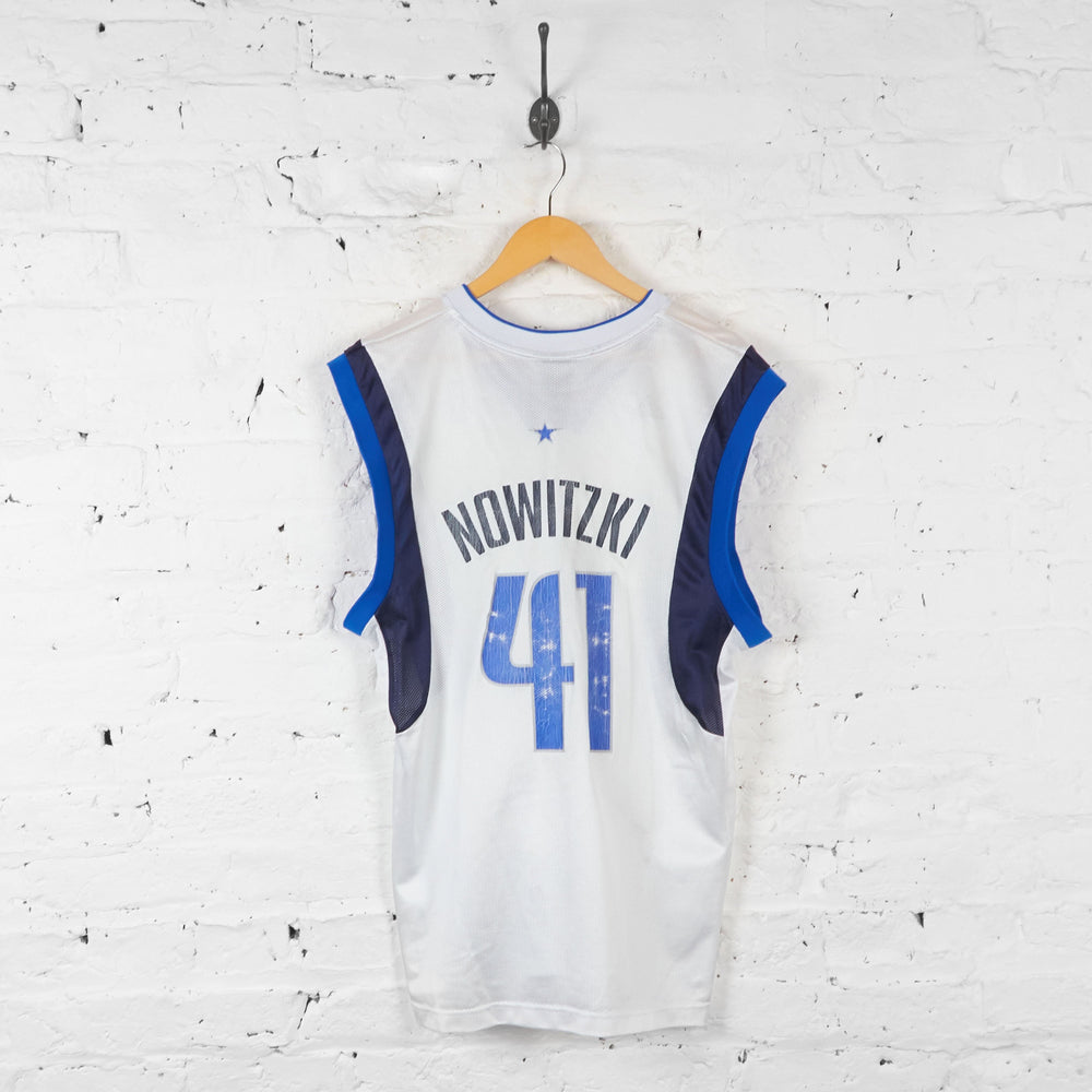 Dallas Mavericks Nowitzki Basketball Vest Jersey - White - M - Headlock
