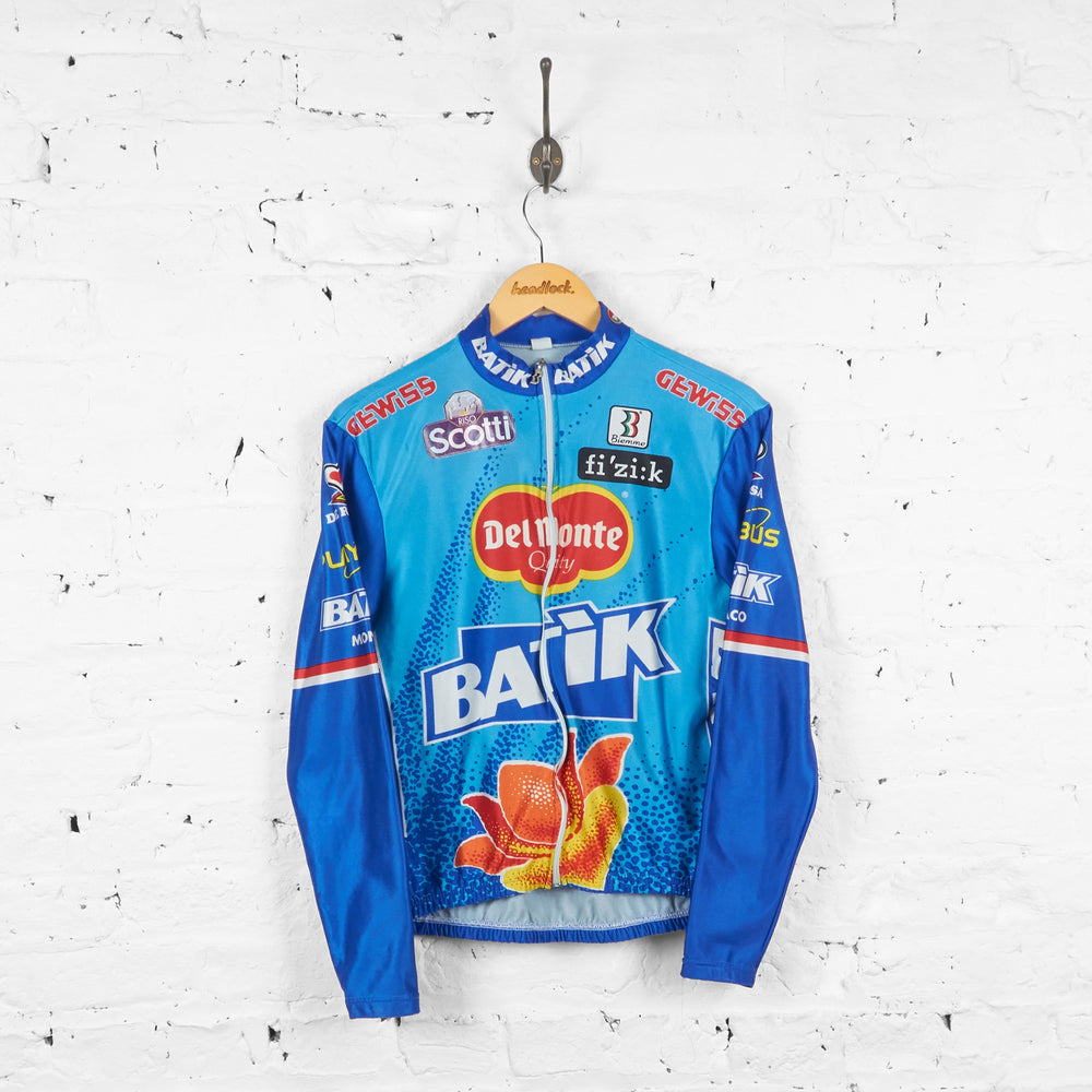Del Monte Batik Biemme Cycling Top Jersey - Blue - XS - Headlock