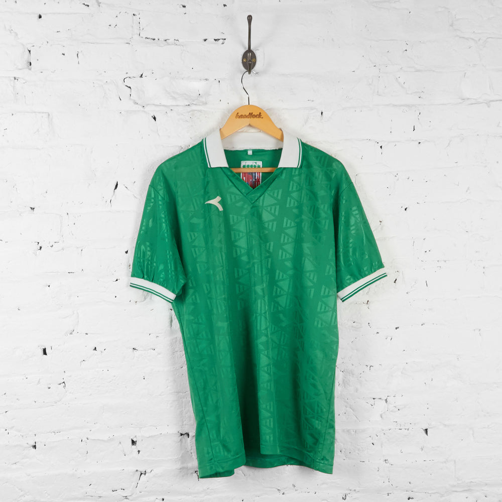 Diadora Template Football Shirt - Green - L - Headlock