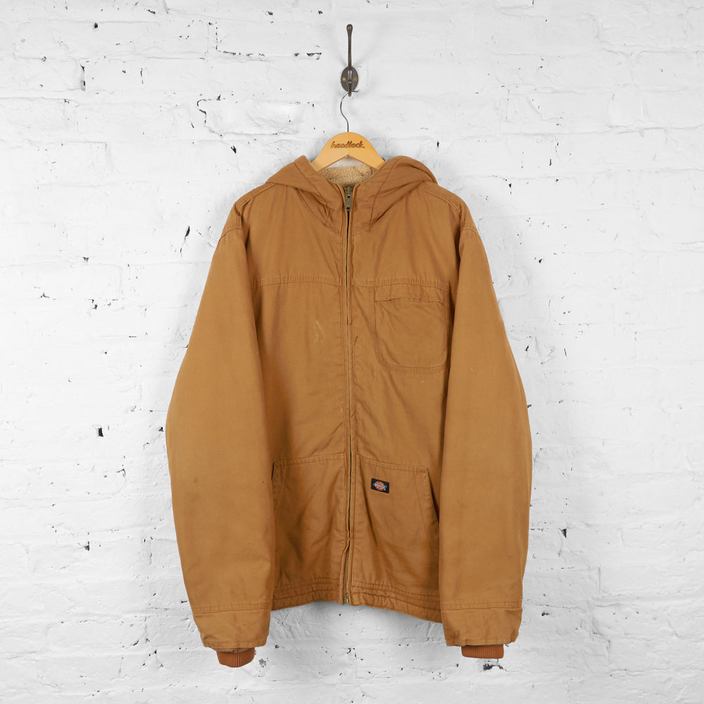 Dickies Parka Style Work Jacket - Brown - XL - Headlock