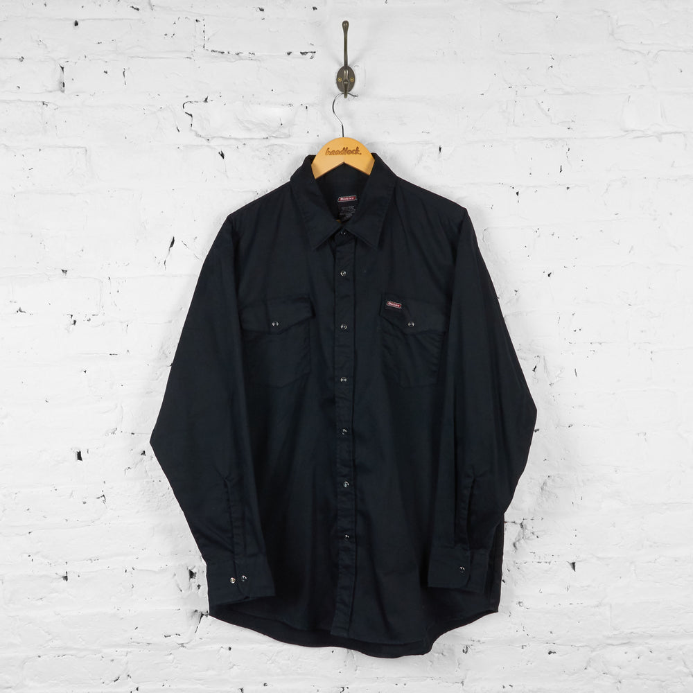 Dickies Western Shirt - Black - XL - Headlock