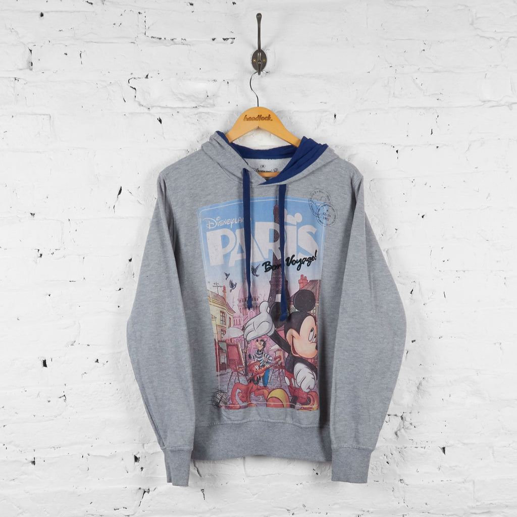 Disneyland Paris Mickey Mouse Disney Hoodie - Grey - M - Headlock