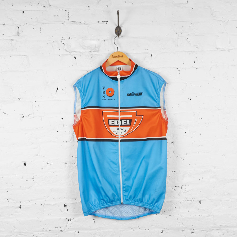 Edel Bike Team Sleeveless Cycling Jersey - Blue - XXL - Headlock