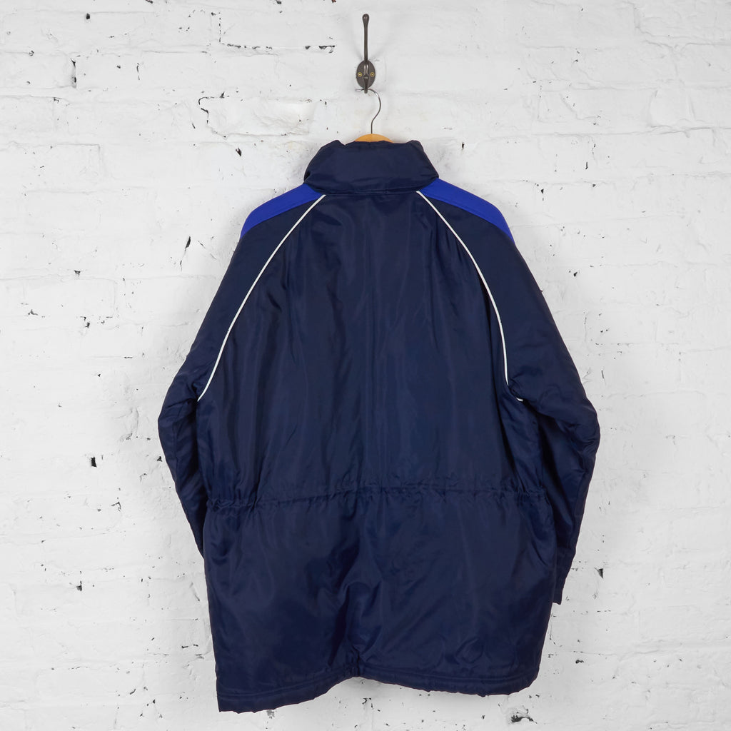Everton 90s Football Coaches Managers Jacket - Blue - L - Headlock