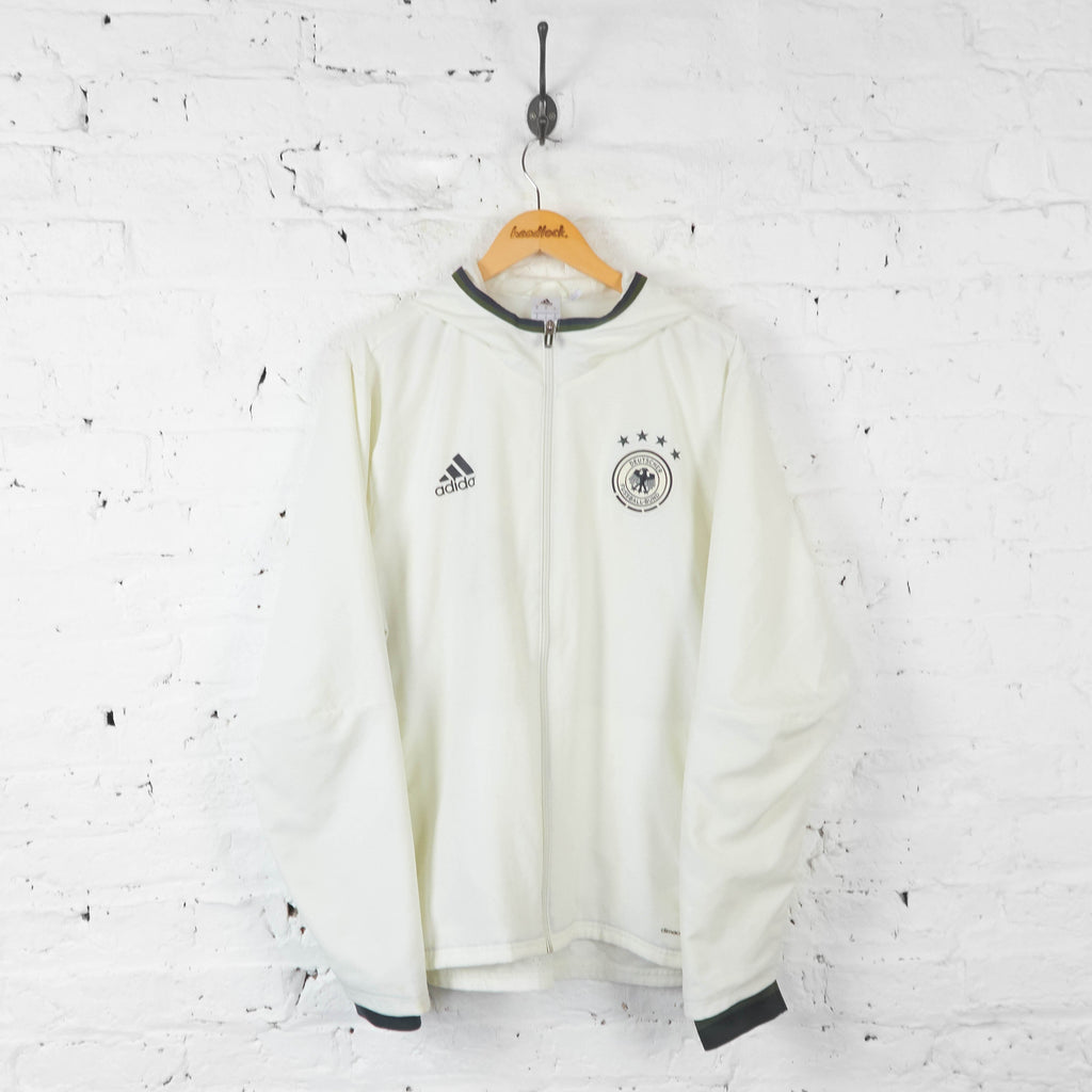 Germany Football Adidas Tracksuit Top Jacket  - White - XL