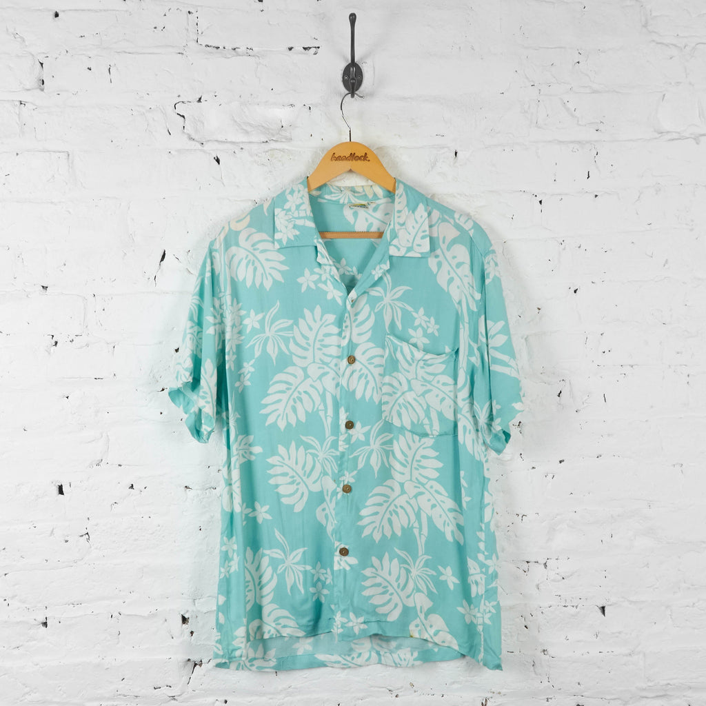 Hawaiian Print Shirt - Green - M - Headlock