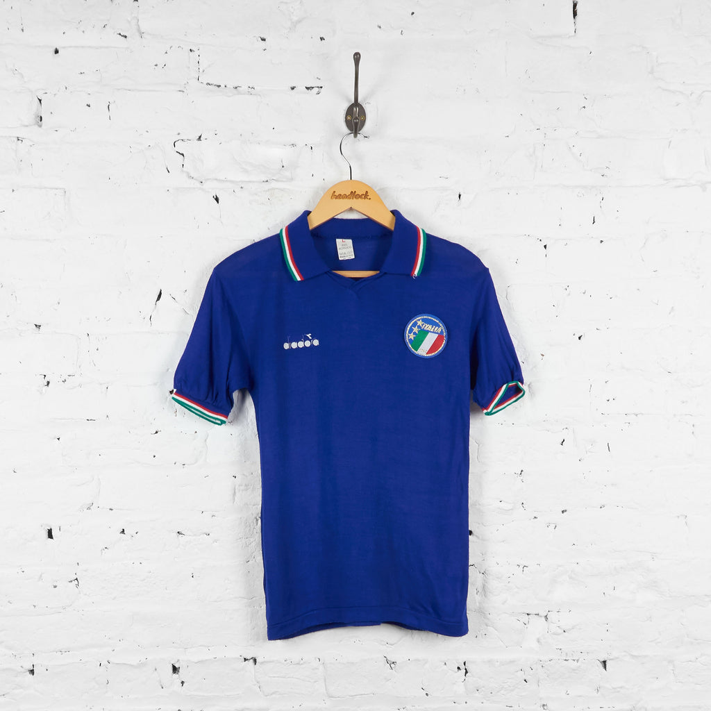 Italy Diadora 1986 Home Football Shirt - Blue - Boys - Headlock