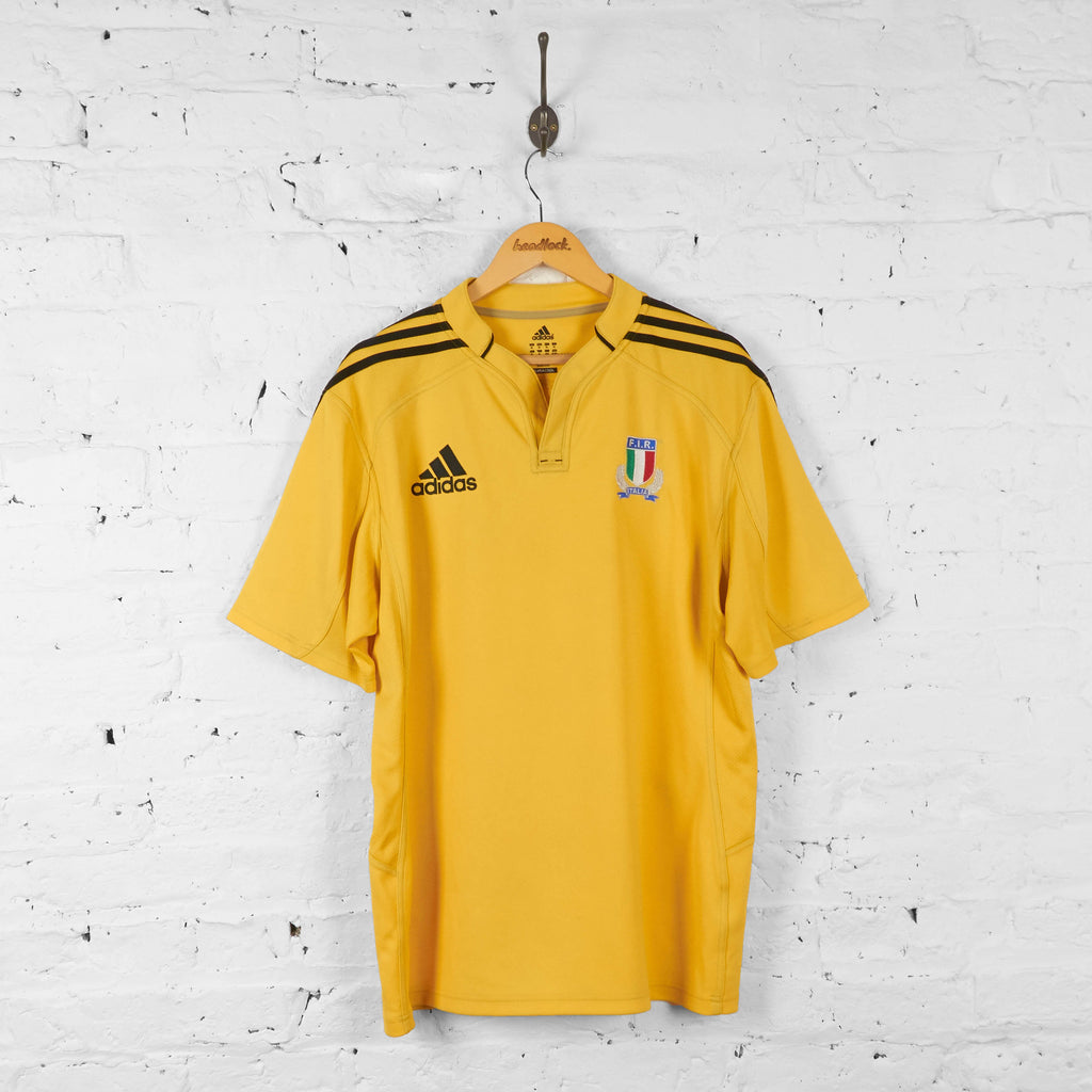 Italy Rugby Adidas Shirt - Yellow - XL - Headlock