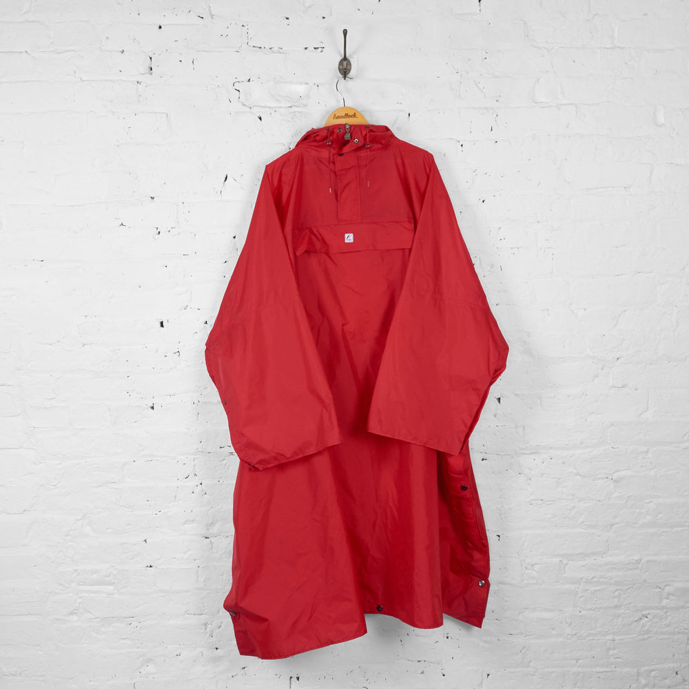 K Way Full Rain Poncho - Red - L - Headlock