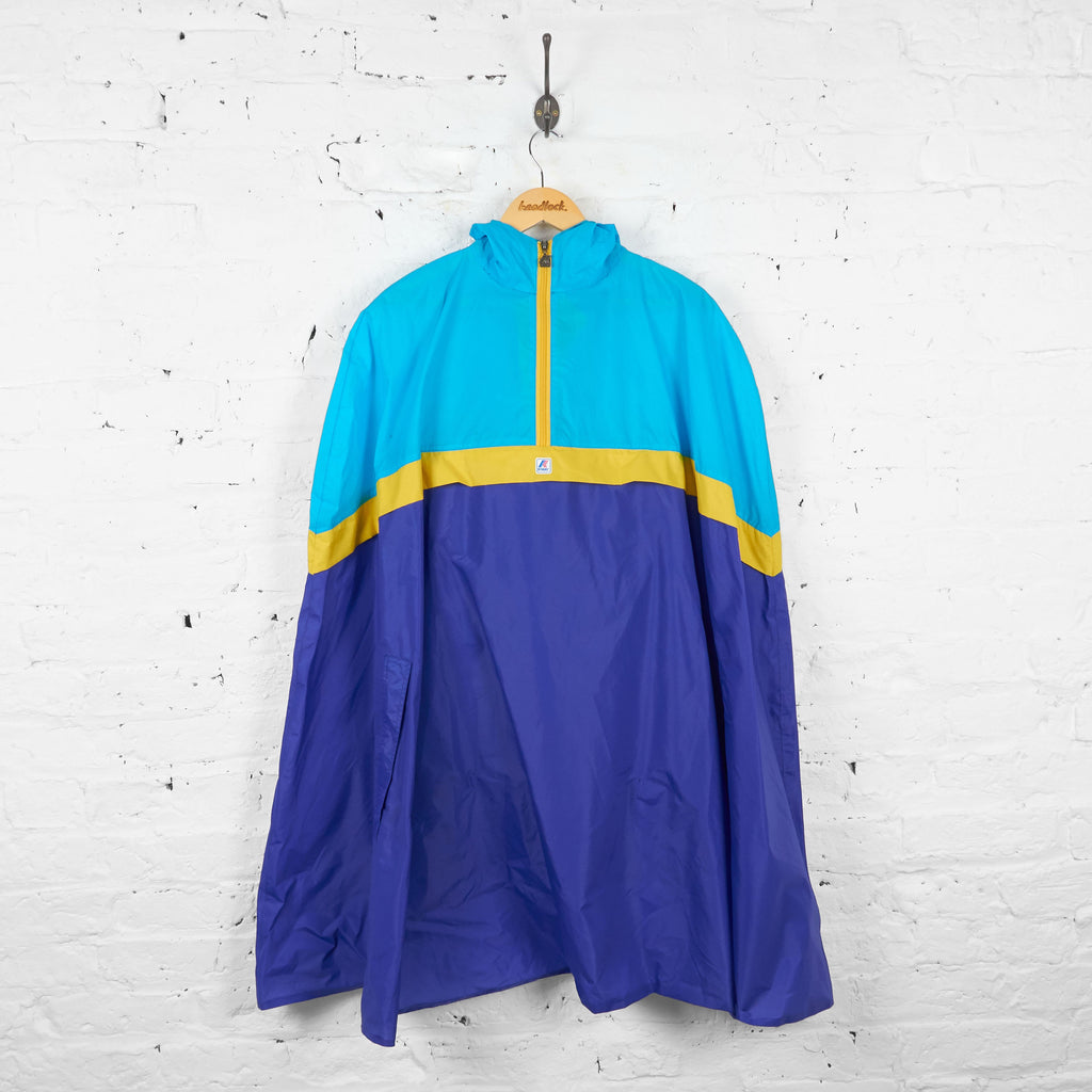 K Way Poncho Cagoule - Blue - L - Headlock