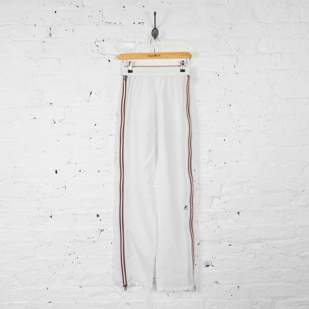 K-Way Tracksuit Bottoms - White - S - Headlock