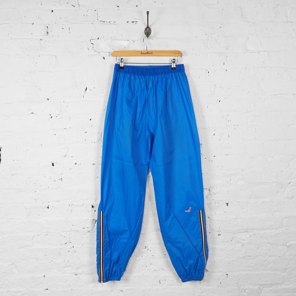 K-Way Waterproof Tracksuit Bottoms - Blue - M - Headlock
