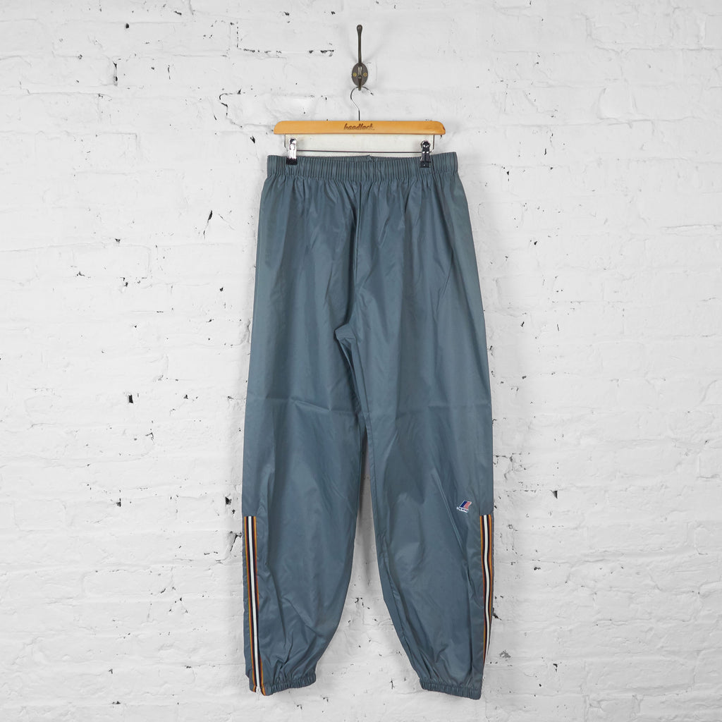 K-Way Waterproof Tracksuit Bottoms - Grey - L - Headlock