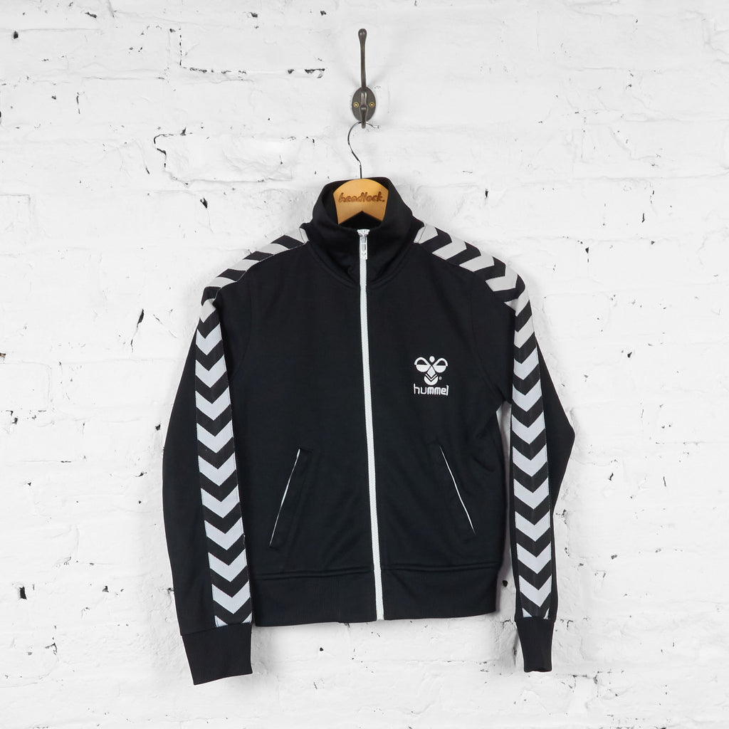 Kids Hummel Tracksuit Top Jacket - Black - L Boys - Headlock