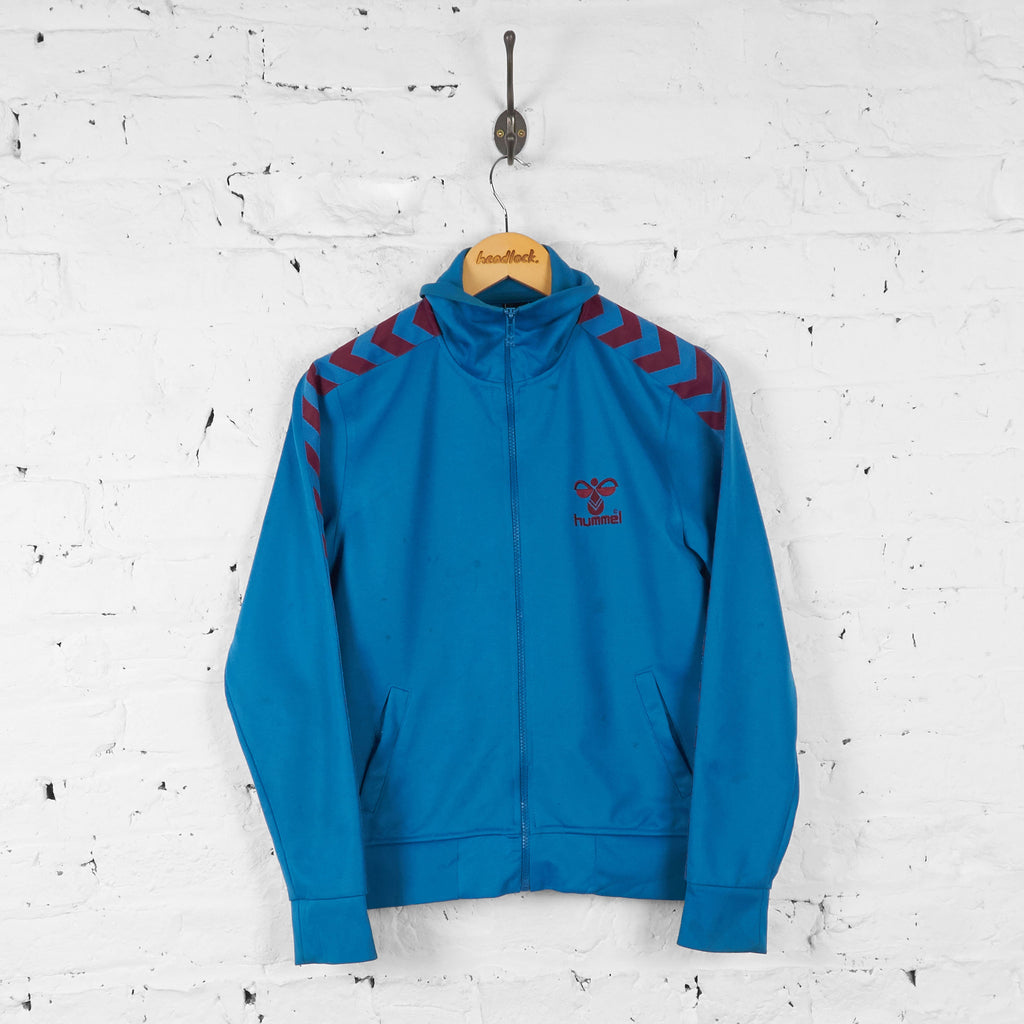 Kids Hummel Tracksuit Top Jacket - Blue - Boys M - Headlock