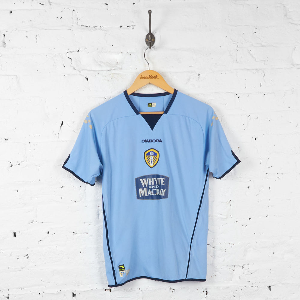 Kids Leeds United 2004 Away Football Shirt - Blue - M Boys - Headlock