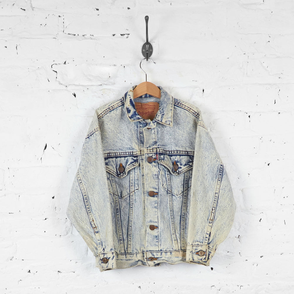 Kids Levis Acid Wash Denim Jacket - Blue - S Boys - Headlock