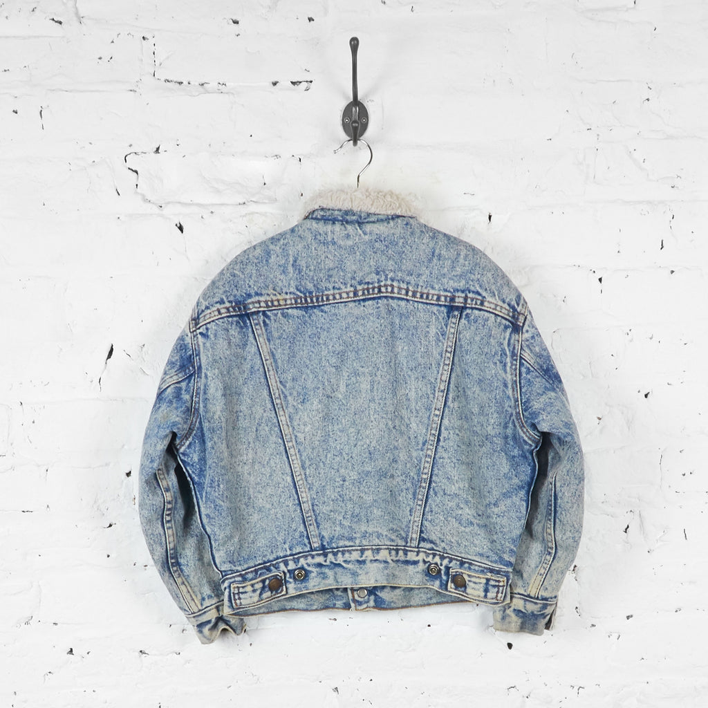 Kids Levis Acid Wash Sheepskin Denim Jacket - Blue - S Boys - Headlock