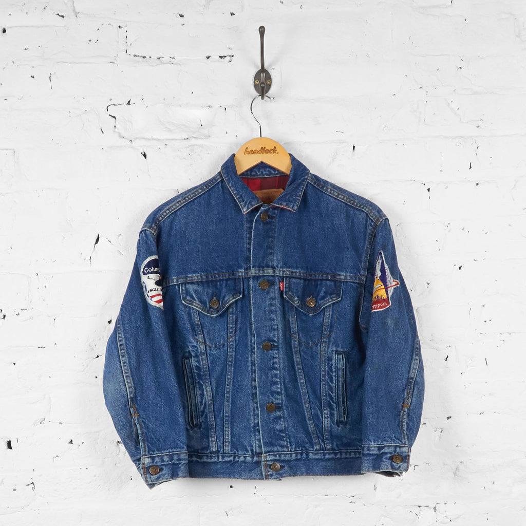 Kids Levis Columbia Astronaut Trucker Denim Jacket - Blue - M Boys - Headlock