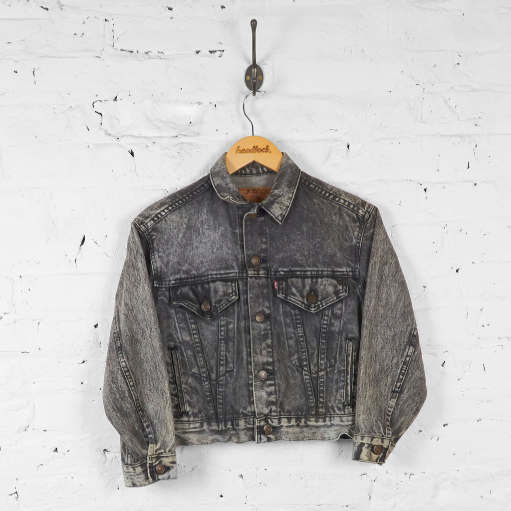 Kids Wash Levis Denim Jacket - Grey - M Boys - Headlock
