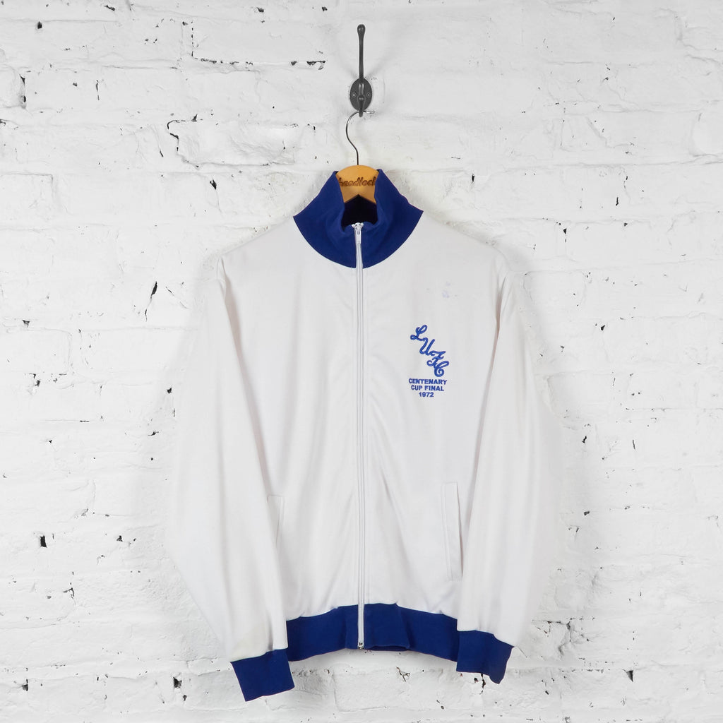 Leeds United 1972 Cup Final Tracksuit Top Jacket - White - M - Headlock