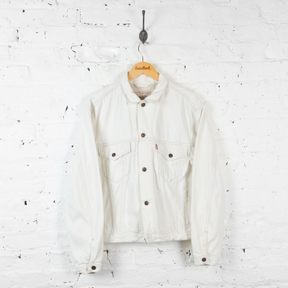 Levis 90s Denim Jacket - White - M - Headlock
