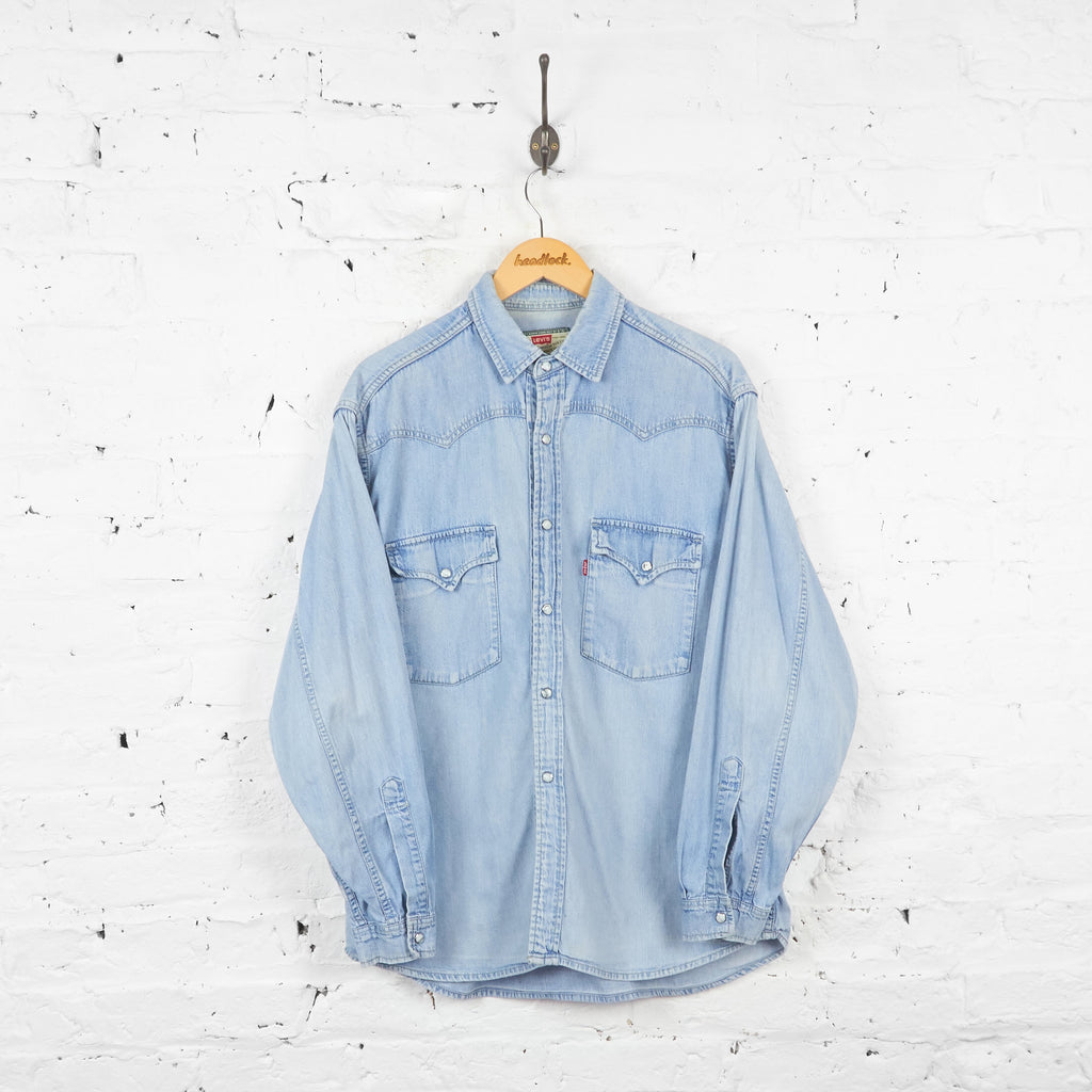 Levis Denim Shirt - Blue - M - Headlock
