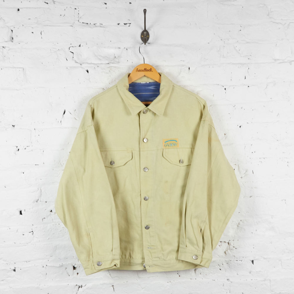 Lined Denim Jacket - Beige - XL - Headlock