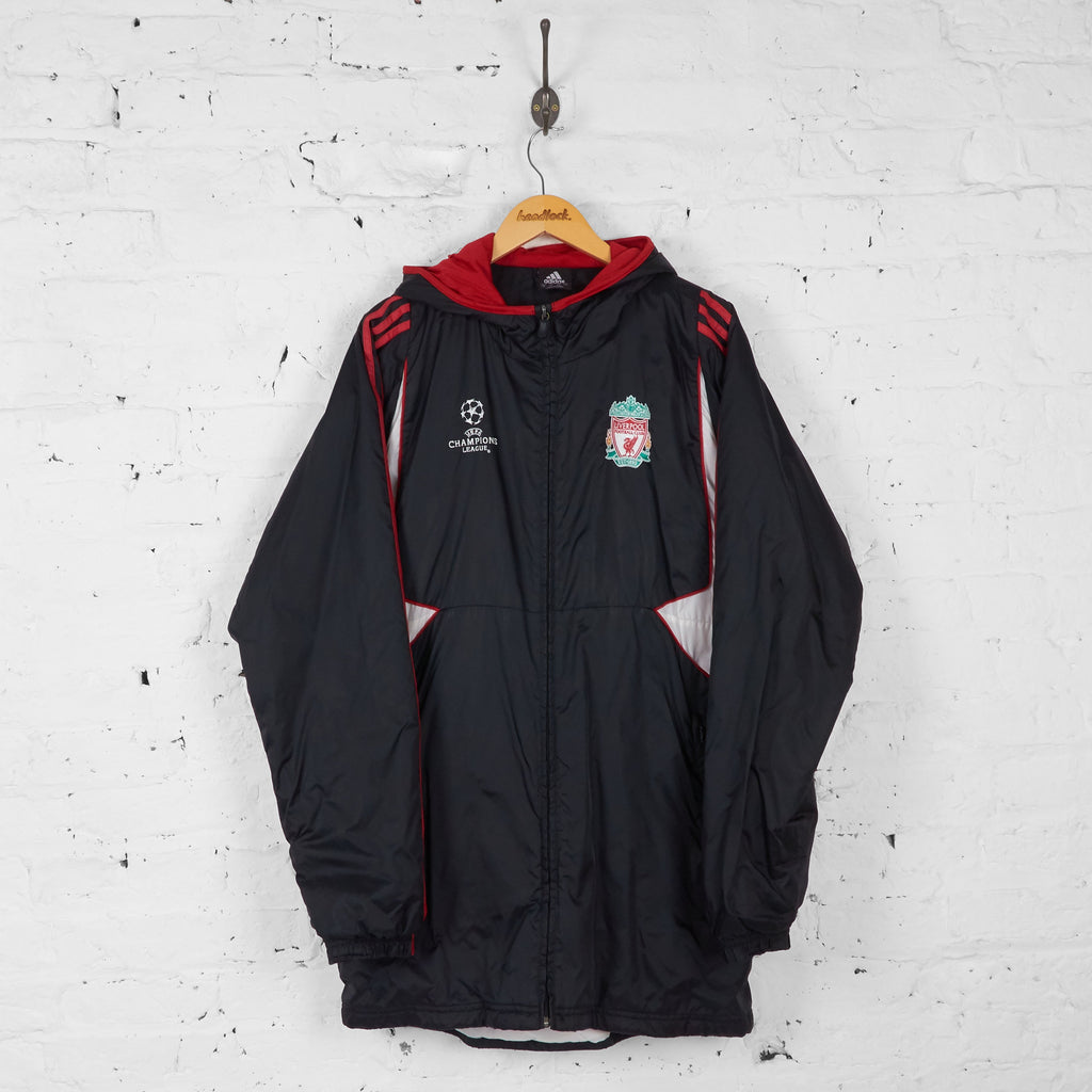 Liverpool 2007 Champions League Parka Coat Jacket - Black - L - Headlock