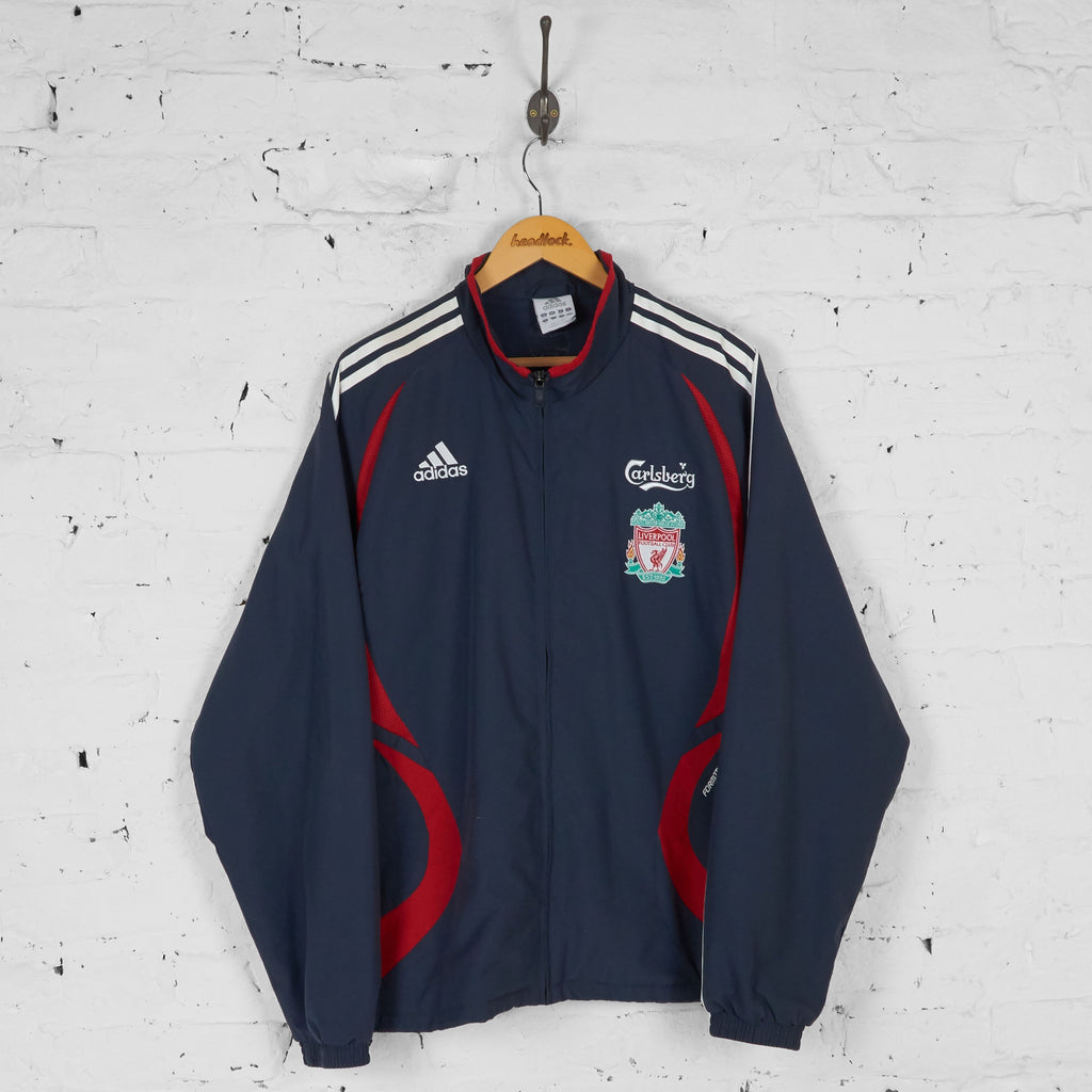 Liverpool Adidas Tracksuit Top Jacket - Grey - XL - Headlock