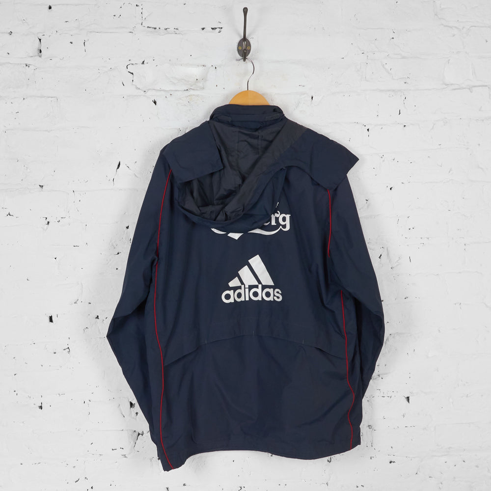 Liverpool Adidas Training Rain Jacket - Grey - L - Headlock