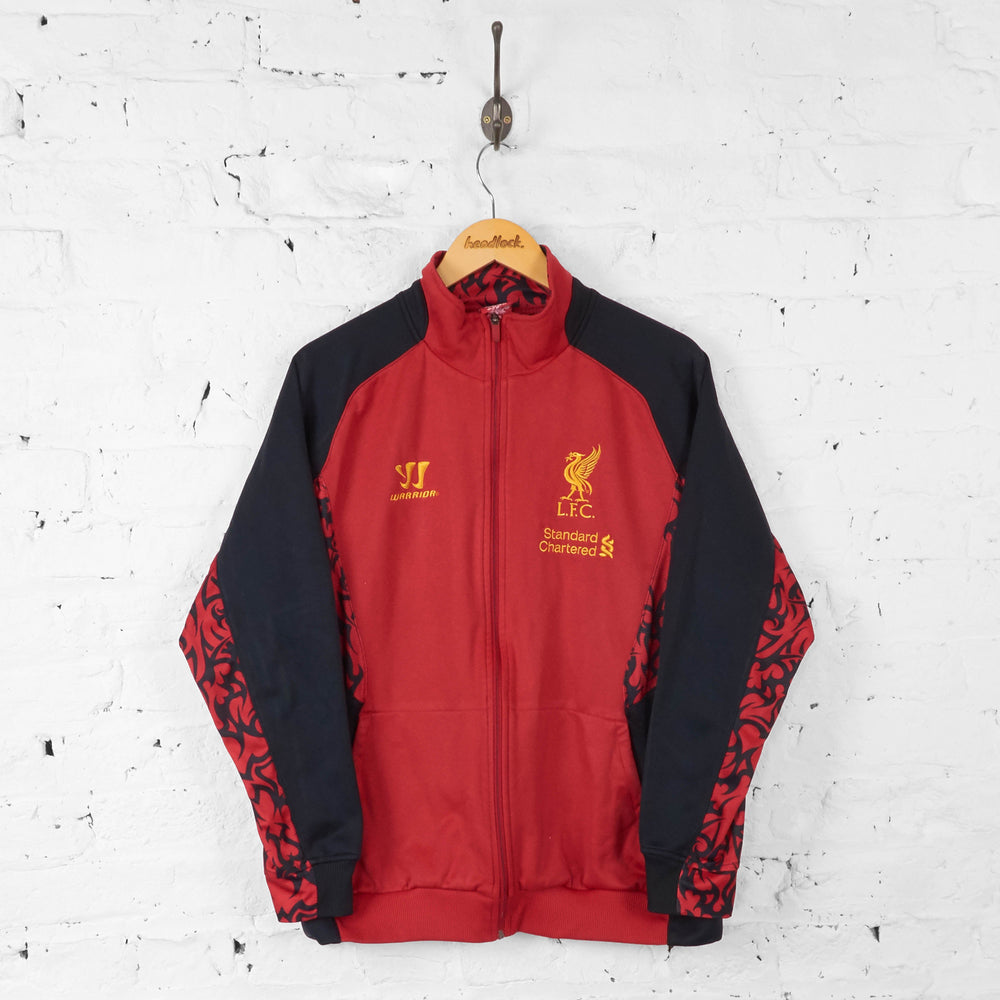 Liverpool Football Warrior Tracksuit Top Jacket - Red - L - Headlock