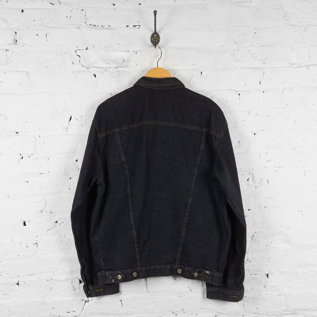 Loose Fit Denim Jacket - Black - XL - Headlock