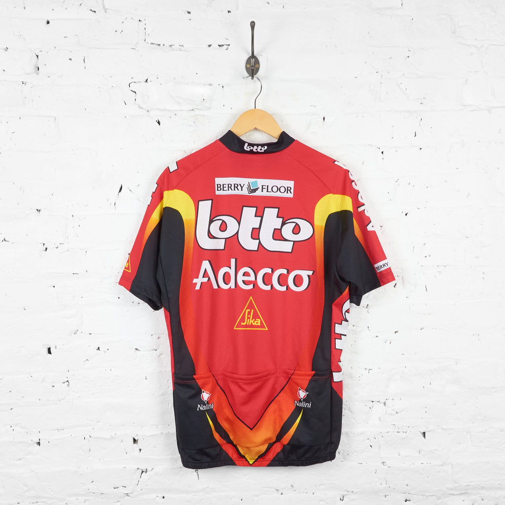 Lotto Adecco Cycling Top Jersey - Red - XL - Headlock