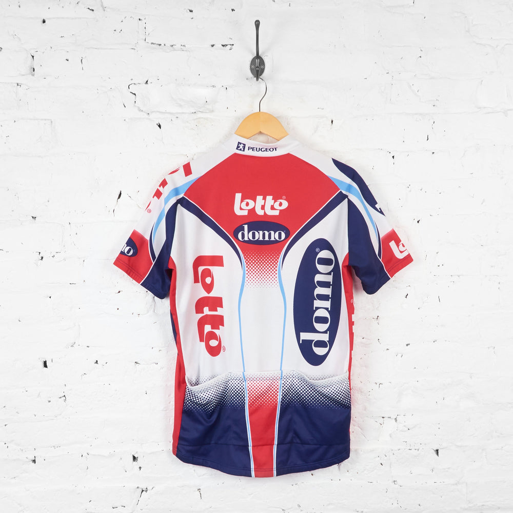 Lotto Domo Eddy Merckx Cycling Jersey - White/Blue/Red - XL - Headlock