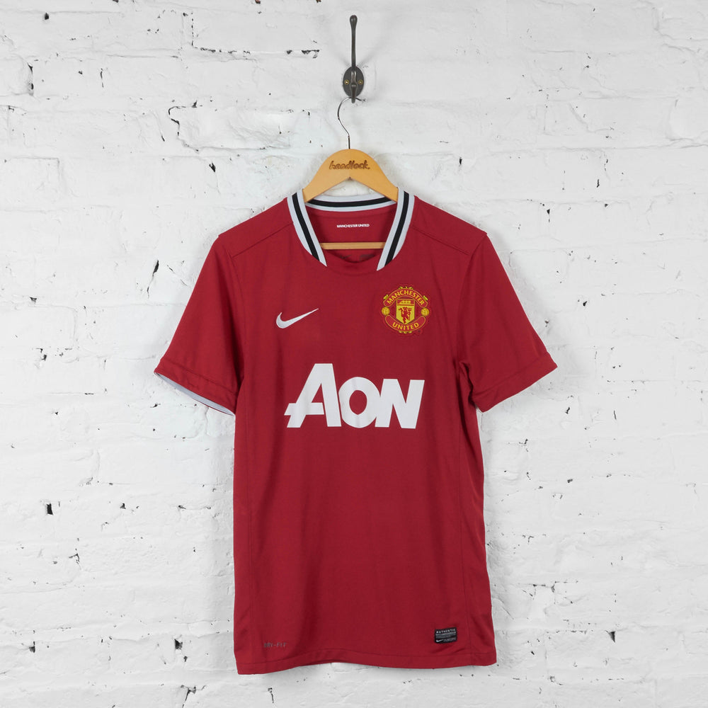 Manchester United 2007 Home Football Shirt - Red - S - Headlock