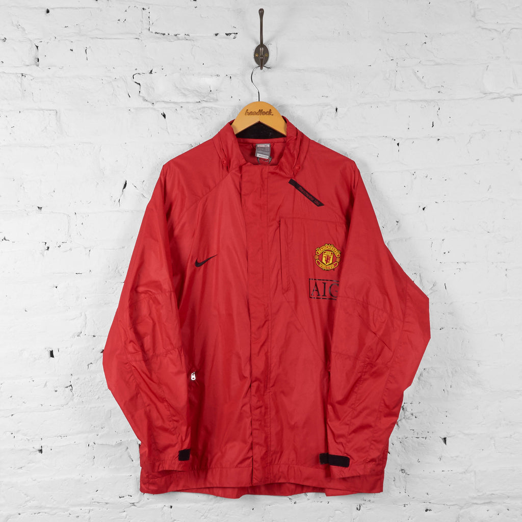 Manchester United 2007 Nike Shell Tracksuit Top Jacket - Red - XL - Headlock
