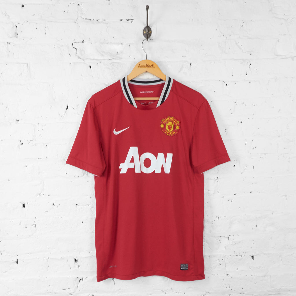 Manchester United 2011 Nike Home Football Shirt - Red - L - Headlock