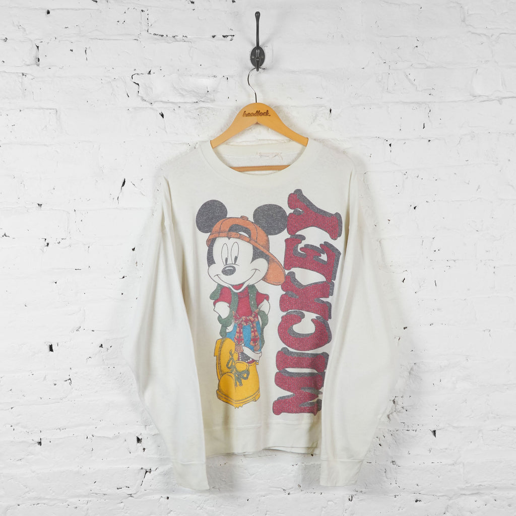 Mickey Mouse 90s Sweatshirt - White - XL - Headlock