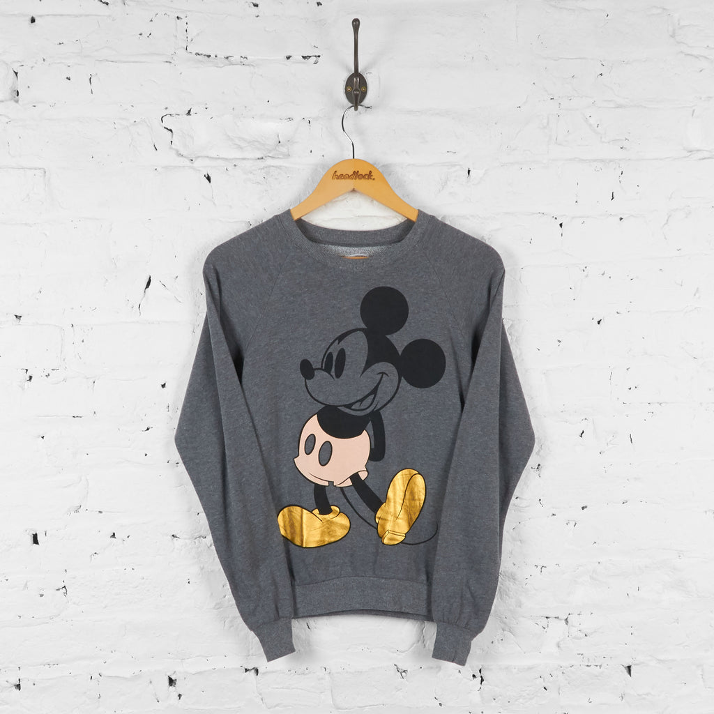 Mickey Mouse Disney Lightweight Sweatshirt - Grey - XS - Headlock
