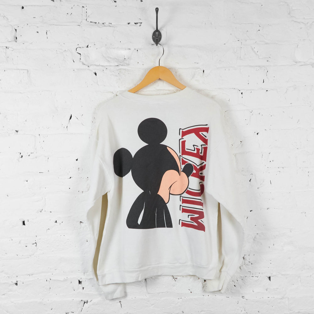 Mickey Mouse Sweatshirt - White - L - Headlock