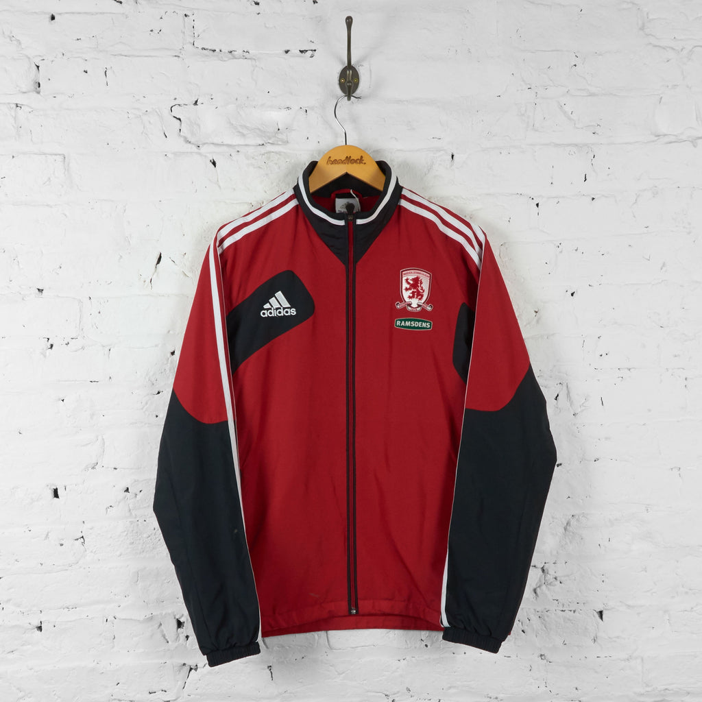 Middlesbrough Adidas 2012 Tracksuit Top Jacket - Red - M - Headlock