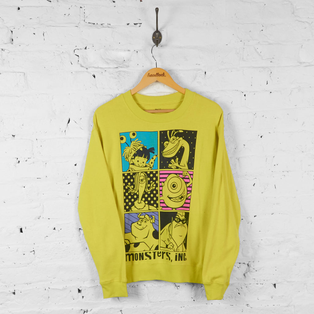 Monsters Inc Disney Sweatshirt - Yellow - S - Headlock