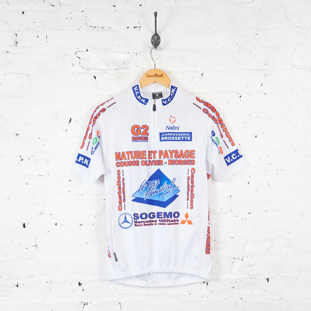 Nalini Nature Et Paysage Cycling Jersey - White - L - Headlock