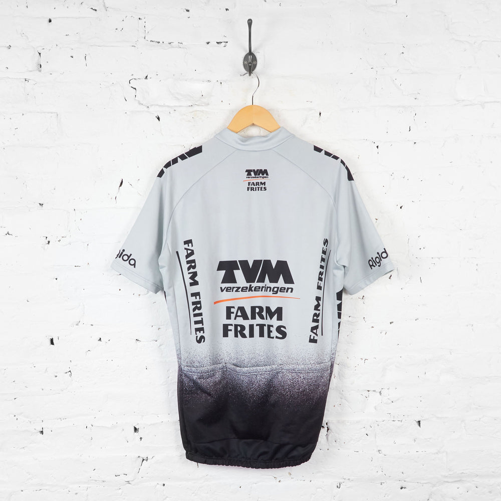 Nalini TVM Farm Frites Cycling Jersey - Grey - XL - Headlock