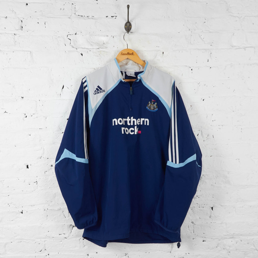 Newcastle United 1/4 Zip Adidas Training Top Jacket - Blue - XL - Headlock